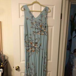 Sleeveless maxi dress, size XL